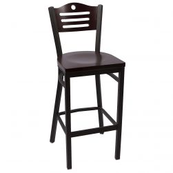 Hudson Bar Stool - Mahogany - Solid Wood Seat