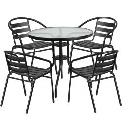 "32"" Round Glass Patio Table"