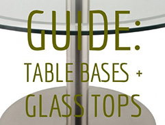 USING OUR BASES WITH GLASS TABLE TOPS